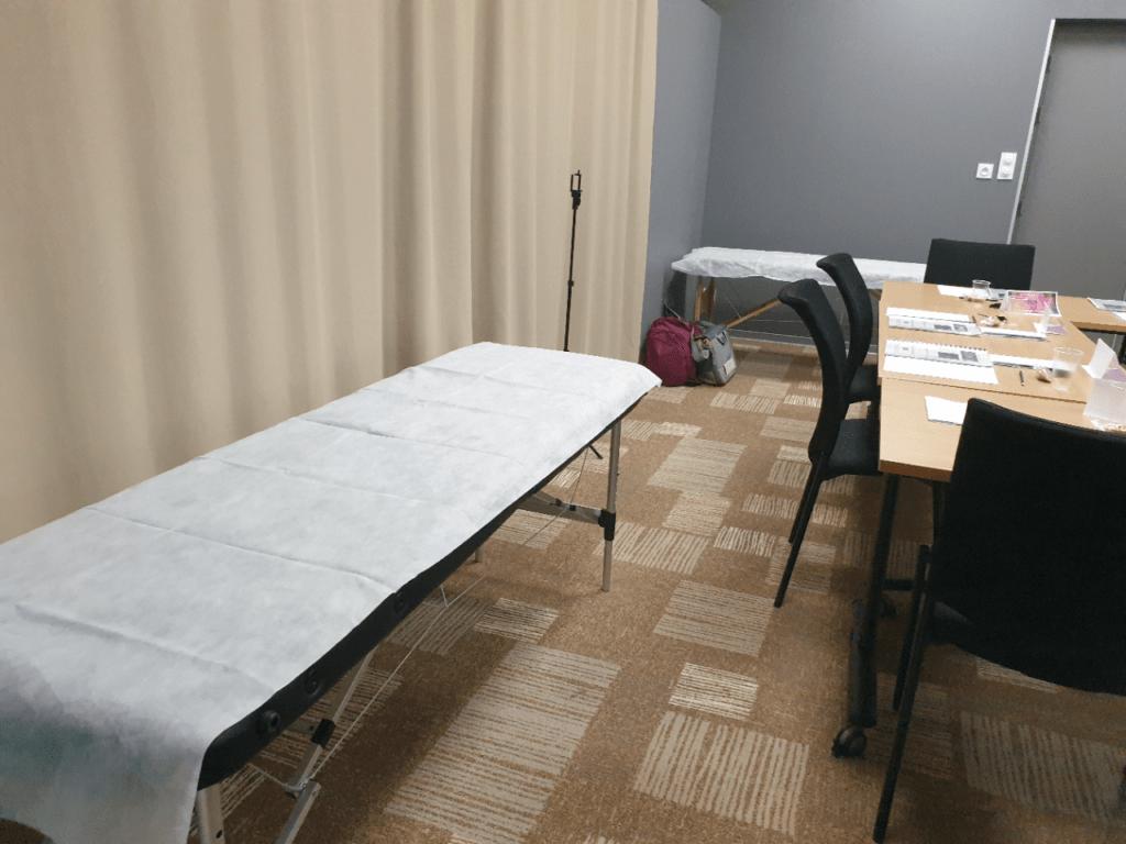 Table de massage pour les exercices