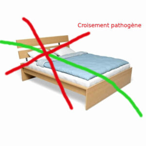 le lit est sur un croisement géobiologique pathogène
