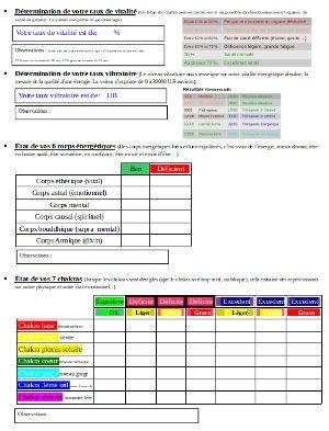 Formation magnétisme: bilan énergétique du magnétiseur en page 2